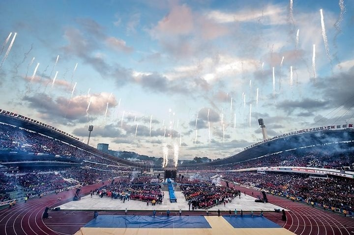 The opening ceremony is famously grand